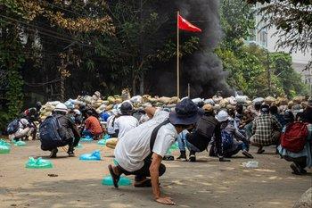 Protestas en Birmania contra la junta militar