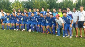 El plantel y cuerpo técnico de la selección de Paysandú