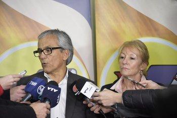 Carolina Cosse y Juan Castillo