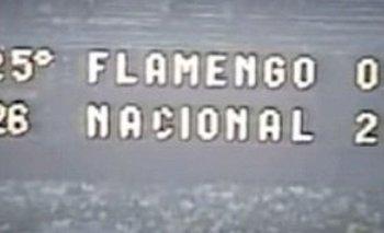 Los hinchas de Nacional recordaron su triunfo en Maracaná