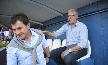 El saludo de Gutiérrez y Giordano antes del partido
