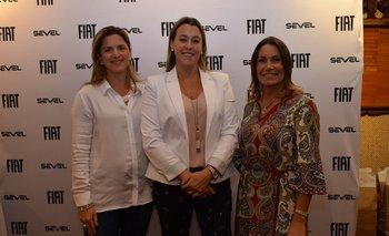 Josefina Romero, Fiorella Zanon y Gabriela Coletto