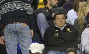 Jorge Barrera en el palco del estadio Suppici