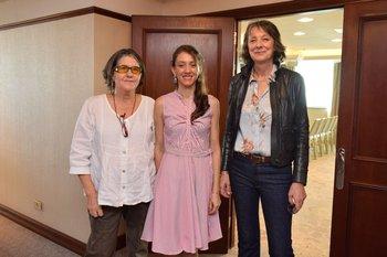 Nidia Viña, Baylena Escudero y Emmanuelle Laurent