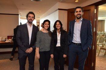 Sebastián Martínez, Patricia Prezioyo, Carla Brovetto y Federico Treyes