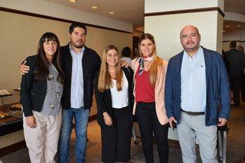 Andrea Testa, Matias Delgado, Ana Paula Gómez, Tatiana Marquez y Maximiliano Janes