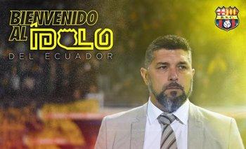 Así anunciaron a Leo Ramos en Barcelona de Ecuador
