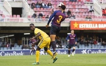 Ronald Araújo, anotó para el equipo filial de Barcelona
