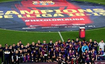 Barcelona festejó la Liga 2018/19