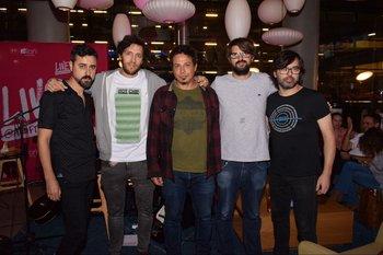 Daniel Noble, Sebastian Casafúa, Diego varela, Irvin Carballo y Gonzalo Silvera