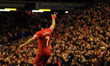 Suárez en Anfield.