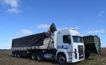 Camión de carga de granos.