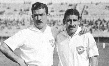 Atilio García junto a Schubert Gambetta, dos glorias de Nacional