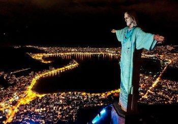 Vista aérea de la estatua del Cristo Redentor