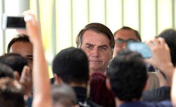 El presidente de Brasil, Jair Bolsonaro, en, el Palacio do Alvorada, sede de la presidencia