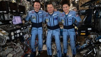 Andrew Morgan, Oleg Skripochka y Jessica Meir han estado más de 200 días en la Estación Espacial Internacional.
