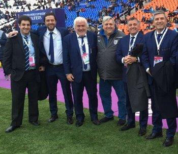 Matías Bentancor, Ignacio Alonso, Roberto Pastoriza, Pino Marciano, Wilmar Valdez y Alejandro Balbi