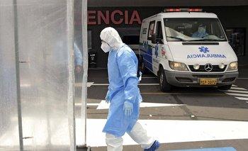 Trabajador de la salud en Quito, Ecuador