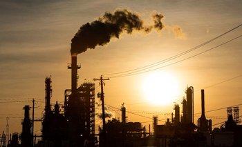 Planta de refinería de petróleo en Texas, Estados Unidos