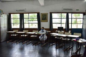 Xiomara Bejeres en clase