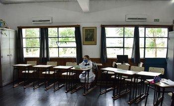 Regreso a las clases presenciales en las escuelas rurales de Uruguay.