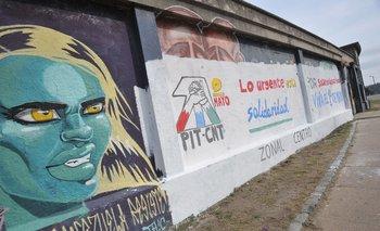 El PIT-CNT repondrá los materiales y ayudará al artista callejero a restaurar el mural