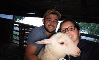 Matías Silva y Melania Montero se conocieron cuando estudiaban en la escuela agraroa UTU La Carolina.