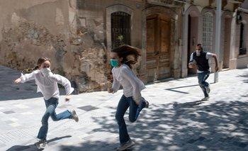 Niños corriendo en España