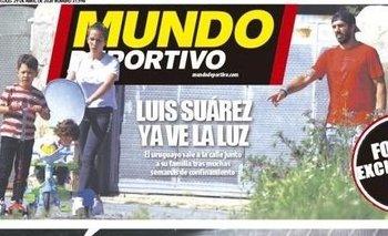 Luis Suárez y su familia en la tapa de Mundo Deportivo