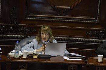 La senadora blanca Carmen Asiaín defendió el proyecto de ley