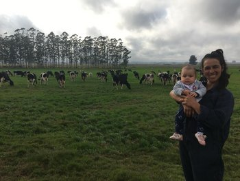 Carminia Mello, se dedica a la producción lechera en Treinta y Tres.
