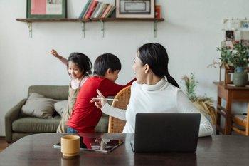 Teletrabajo con niños en casa