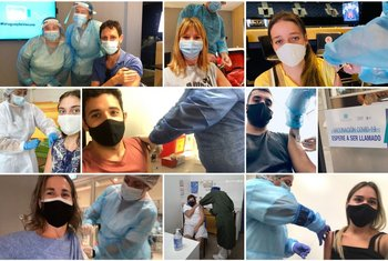 Capturas de pantalla de algunas de las fotos compartidas en redes sociales.