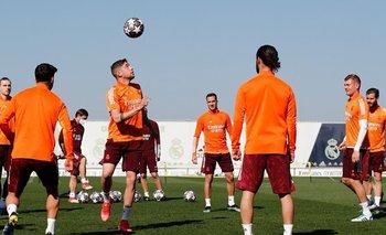 Federico Valverde en la práctica de Real Madrid
