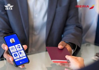 El pasaporte sanitario es un documento digital incorporado en la aplicación Travel Pass de IATA