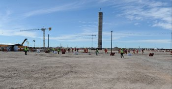 Avance de la construcción de la planta de UPM en Paso de los Toros en noviembre de 2020