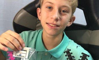 Mateo Frascheri, el niño de 12 años.