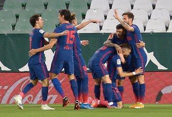 Atlético de Madrid festeja el 1-0