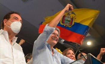Guillermo Lasso celebra su victoria en Ecuador