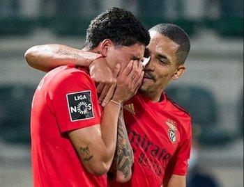 Las lágrimas de Darwin Núñez tras convertir para Benfica luego de dos meses