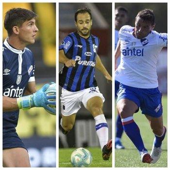 Sergio Rochet, Hernán Figueredo y Gonzalo Bergessio