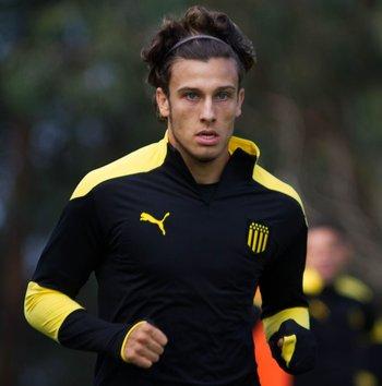 Agustín Canobbio retornó a las prácticas en Peñarol este viernes