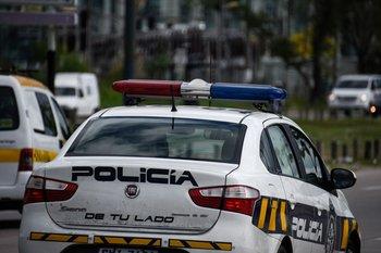 Patrullero de la policía de Montevideo