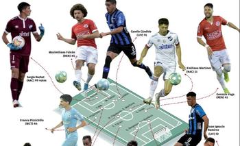 Este es el equipo ideal de la encuesta Fútbolx100 de El Observador