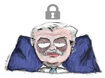 Ilustración del presidente argentino, Alberto Fernández