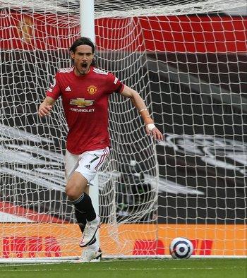 Edinson Cavani tuvo un gran mes en Manchester United