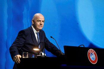 La intervención de Infantino en el congreso de UEFA