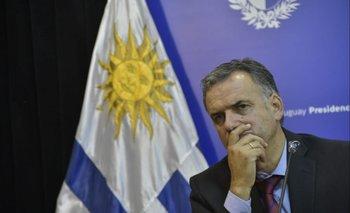 Orsi en conferencia de prensa tras la reunión con el presidente Luis Lacalle