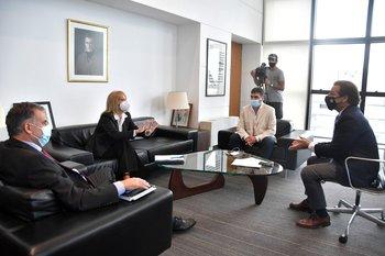 El presidente recibió a los tres intendentes frenteamplistas: Orsi, Cosse y Lima
