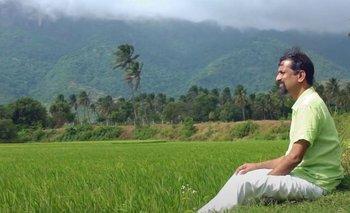 Sridhar disfruta de la paz y el silencio que le ofrece la aldea.